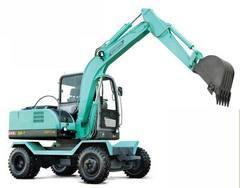 轮式360度小型挖掘机