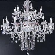 特卖18头双层蜡烛K9水晶吊灯客厅楼梯吊灯欧式灯CT-12+6A112264