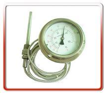 供应100MM轴向全钢软管连接温度计