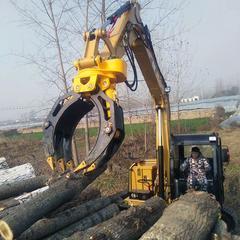 挖掘机液压旋转夹木器挖机抓木材