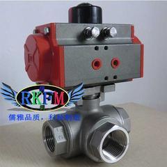 Q945F电动三通法兰球阀-Q944F防爆电动三通球阀