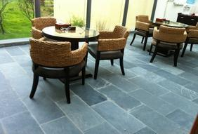 欧式防滑仿古 青石板/石材地砖 庭院砖室内外青石地砖 绿色文化石