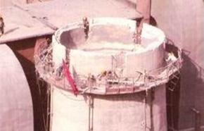 水泥烟囱人工拆除