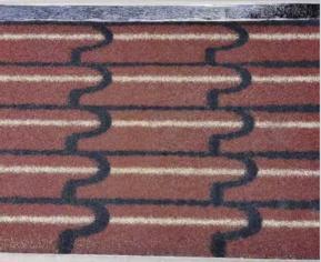 立体屋面瓦多彩立体防水卷材sbs防水卷材彩砂沥青瓦