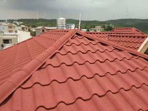 彩石金属瓦厂家 钢结构屋面瓦 平改坡镀铝锌瓦圆弧型七波瓦