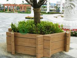 花箱,仿木,景观小品,绿化设施,园林景观