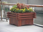 兰州防腐木花箱、花坛、花盆、花架