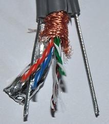 电梯网线TVVB2G STP+2X1.5电梯随行电缆