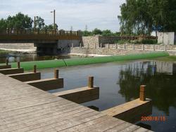 彩色弧形坝,替代传统的橡胶坝 橡皮坝 翻板门坝 溢流坝