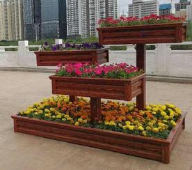 兰州定制铝合金花箱,木纹铝合金花槽,金属仿木花坛