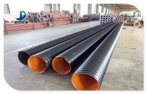 8203;南召钢带增强波纹管 排污管道施工