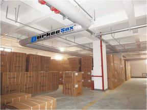 布袋风管空调通风系统应用在健身中心