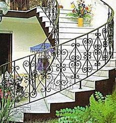 欧式铁艺旋转楼梯扶手