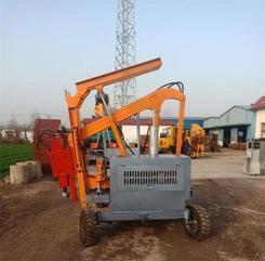 四轮打桩机  液压小四轮打桩机 建筑工程拖拉机式护栏打桩机