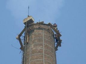 人工拆除烟囱工程