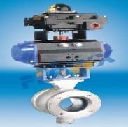 气动V型调节对夹球阀 V型调节球阀只用于纸浆行业的好选择
