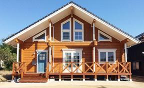 防腐木屋搭建木结构别墅景观园林木质产品