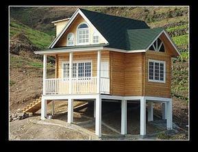 陕西木屋、实木别墅、木结构设计、木屋多少钱