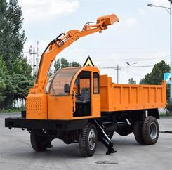 农用随车挖掘机 四不像随车挖装载一体车多功能农用拉土车随车挖