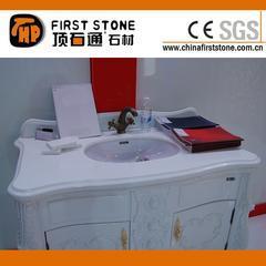 白色大理石浴室台面QD-VANITY 2013016