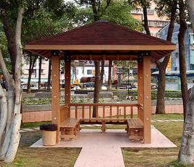 塑木凉亭,生态绿可木