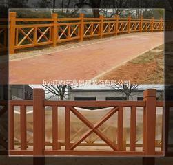 江西新农村建设河道水泥仿木护栏池塘生态栏杆