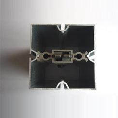 优质特装展位铝料80方柱8分四槽方铝80方通展台设计首选展览