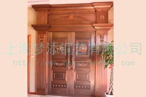 高档紫铜旋转大门铜门庭院防盗