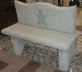 灰白色花岗岩长凳GCF501