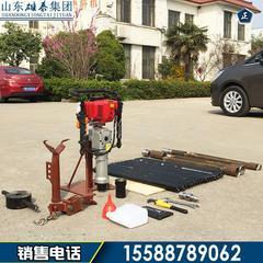 供便携式单人干取土钻机 冲击式土质勘探钻机 考古地质取样钻机