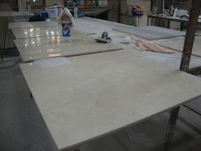 米黄色大理石复合板