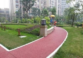 山东透水地坪ql-8907彩色路面 渗水地坪材料销售及施工