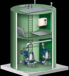 智能一体化预制泵站格兰富规格(9500*2500)
