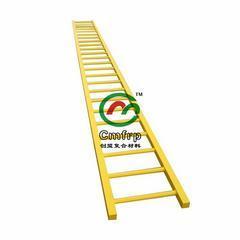 江苏创盟工厂直销:玻璃钢爬梯 FRP玻璃钢笼梯