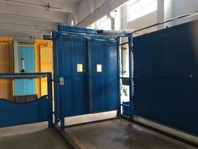 矿用自动双向无压风门+手动双向无压风门安装和工艺浅析