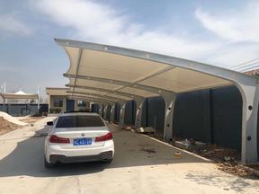 钢结构膜结构车棚雨棚遮阳