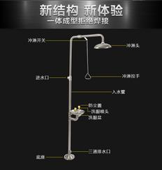 重庆直销 实验室紧急洗眼器 感应洗眼器 立式洗眼器