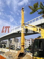 斗山325改装三节式滑臂挖掘机、挖深27米改装