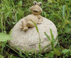 自然石青蛙雕刻GAB415