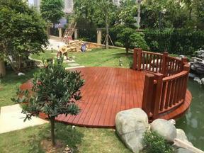 户外木地板防腐木地板安装樟子松地板