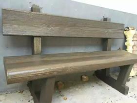 四川成都驰升市政水泥仿木桌椅凳
