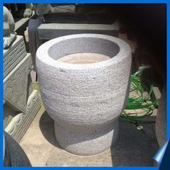 深圳石头花盆制作 石材花钵价格 深圳石花盆设计