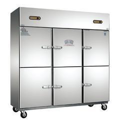 不锈钢六门厨房柜