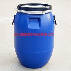 60升塑料桶60公斤抱箍法兰桶