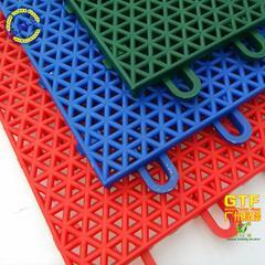 悬浮拼装地板 室内外篮球场地 悬浮拼装圆柱三角形
