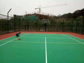 黎溪篮球场地坪漆每平方价格 英德防滑地坪漆施工公司