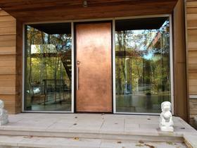 邸墅建筑高档别墅移动阳光房定制铜门