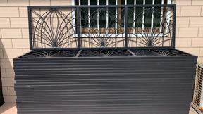 南京秦淮阳台护栏厂家 锌钢静电喷涂阳台栏杆
