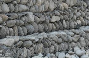 五绞格宾网 格宾生态护垫 加筋钢丝石笼 双绞合雷诺护垫 宾格笼网