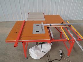 木工锯台多功能便携折叠工作台无尘子母锯可电动升降斜切操作台
